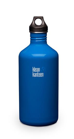 Klean Kanteen Classic - Recipientes para bebidas - con tapa anillada, 1900 ml azul
